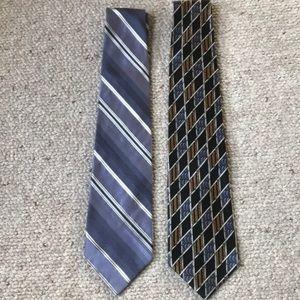 Two silk Pierre Cardin ties